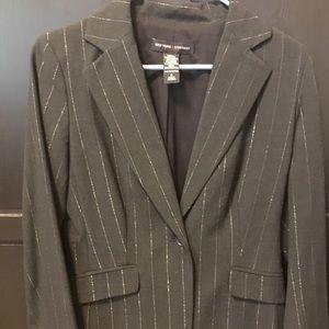 NY & Co Sparkle Pin Stripe Blazer Sz 4